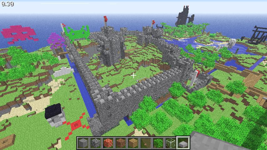 Minecraft castelo louco - sandbox